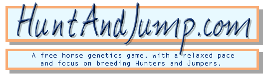 HuntAndJump.com: Free Horse Genetics Game, with a relaxed pace and focus on breeding Hunters and Jumpers.